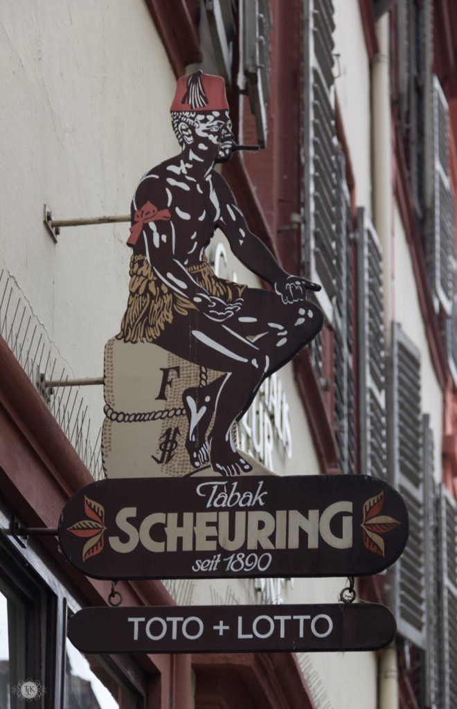 THREE LITTLE KITTENS BLOG | Scheuring Tabac Sign | Heidelberg, Germany