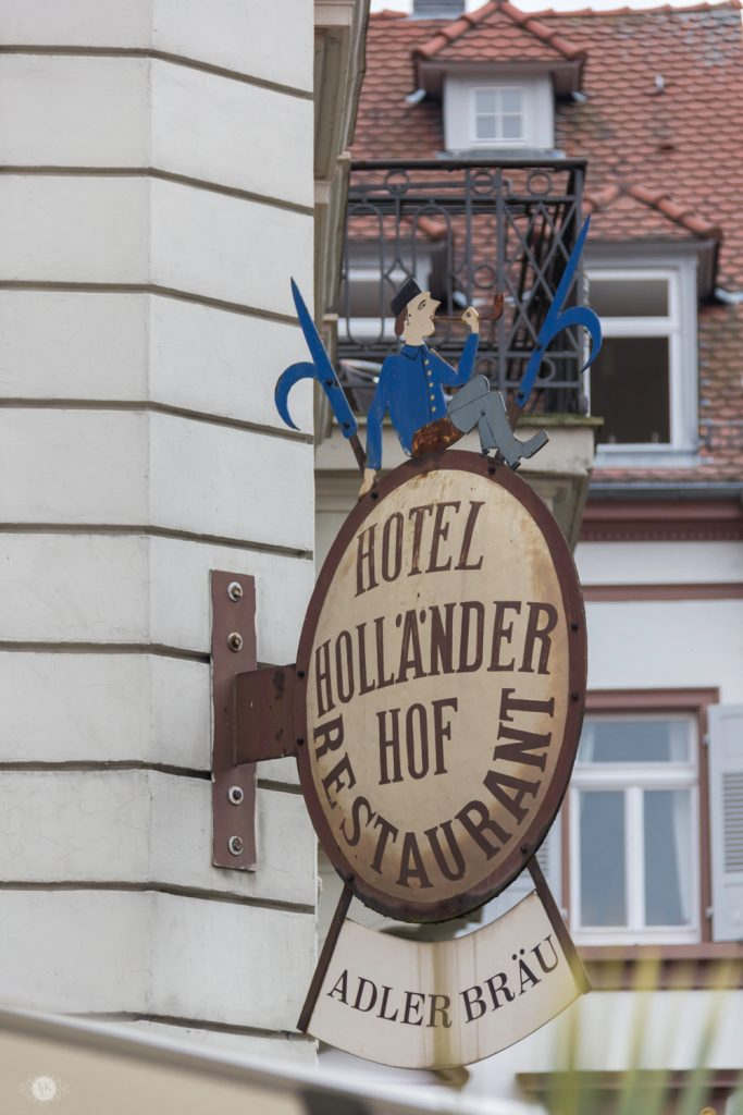 THREE LITTLE KITTENS BLOG | Hotel Hollander Hof Sign | Heidelberg, Germany
