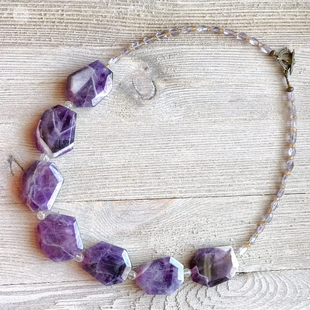 THREE LITTLE KITTENS BLOG | 3736 N Amethyst and Citrine Necklace