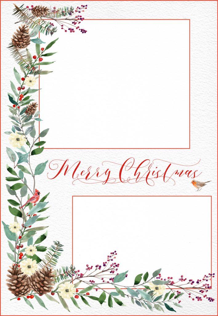Woodland Christmas Card Template Free Digital Goo